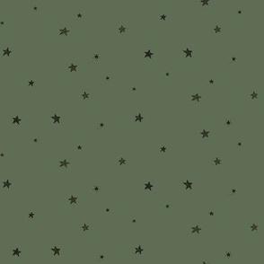 Sketchy stars - green