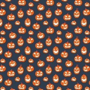 Halloween Jack O lanterns (small) on dark gray