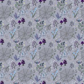 Night garden - lilac