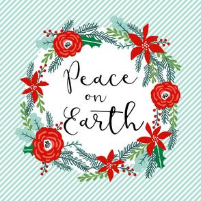 peace on earth christmas fabric - fits one yard minky