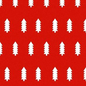 red tree christmas fir tree holiday xmas christmas fabric