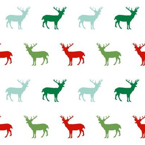 christmas deer holiday xmas deer forest woodland holiday red and green