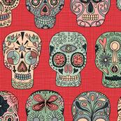 Sugar Skulls (red)