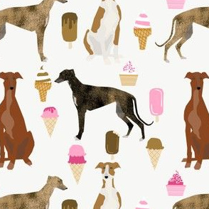 cute greyhounds ice cream fabric cute greyhound design fabric cute greyhound fabric ice cream food cutes fabric