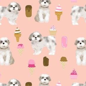 shih tzu ice cream peach ice creams cute dog fabric cute dogs dog ice creams