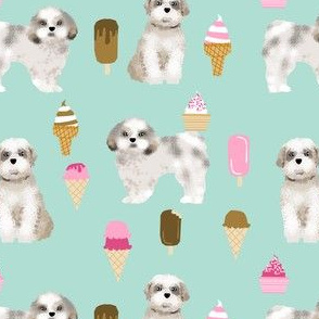 shih tzu mint ice creams fabric cute ice cream fabric dog fabrics mint ice creams shih tzu fabric