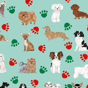 christmas paws dog fabric cute dogs dog fabric best dog fabric