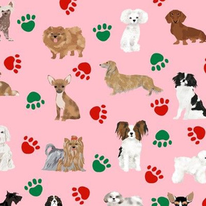 christmas dogs fabric cute dog paw fabric christmas dog paws cute dogs