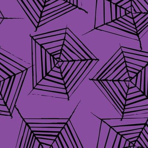 large spider-webs-on-deep-purple
