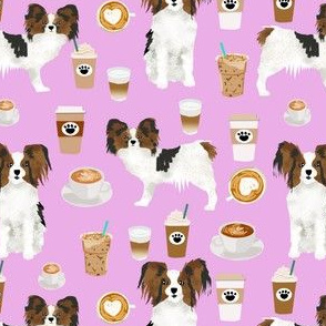 papillon dog coffee purple fabric cute papillon dogs best dog fabric coffee latte fabrics cute papillon dogs