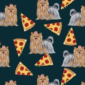 yorkie dog pizza fabric cute yorkshire terriers cute dog dogs fabric best dog fabric yorkie dogs fabric best dog fabric