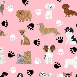 dogs fabric cute dog breed black and white dog breed fabric cute dogs fabric pink dogs dog breed fabric