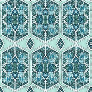 Modern Windows (hearts, flowers, hexagons)