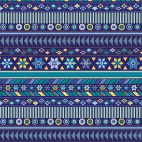 Peruvian Stripe Deep Blue
