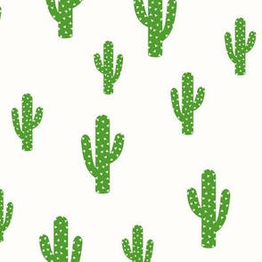 Cactus Green - Light Cream Background