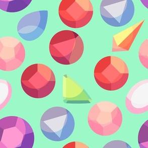 Crystal Deco Gems (Green)