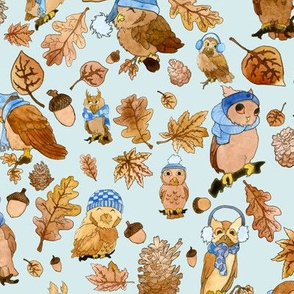 Owls In Autumn
