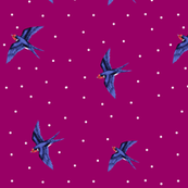 Swooping Swallow Ditsy Dot Plum