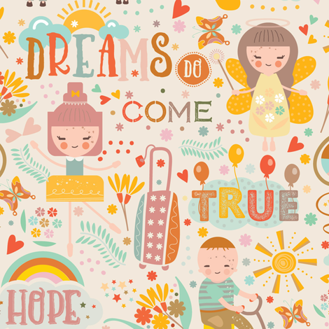 Dreams Do Come True fabric - grace_andersson - Spoonflower