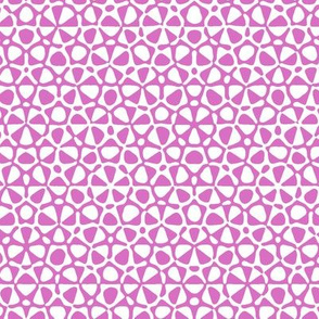 Star quasicrystal in pink and white