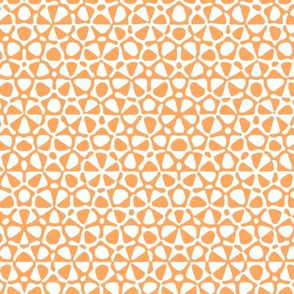 starfish quasicrystal in faded orange and white