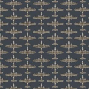 B-25 Olive Drab on Sea Blue - Small