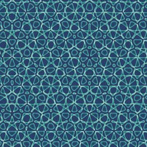 starry quasicrystal in navy and teal