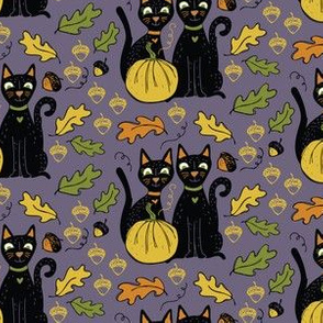 Black Cats and Yellow Pumpkins