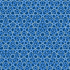 starry quasicrystal in bedtime blues