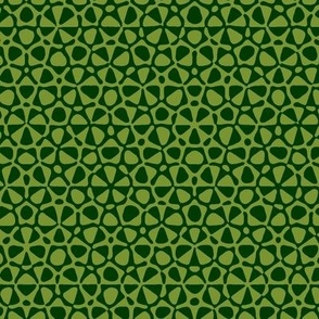 star quasicrystal in forest and moss green