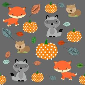 Woodland friends & pumpkins