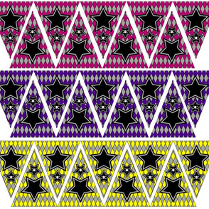 Mini-Bunting_Banner-skull-stars_with_pink_Purple_yellow