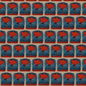 Red-orange Tree on Blue
