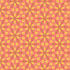 Pink Floral Geometric
