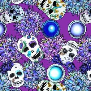 Sugar Skulls Blue
