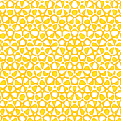 star quasicrystal in yellow, gold and white