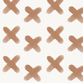 watercolor crosses - peach on white geometric || by sunny afternoon