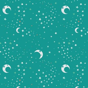 Celestial Dreams - Retro Teal