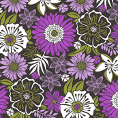 Fall Floral Flowers Purple