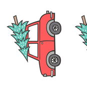Plush Plushie Softie Cut & Sew Holiday Christmas Tree Red Car Woodland Fall