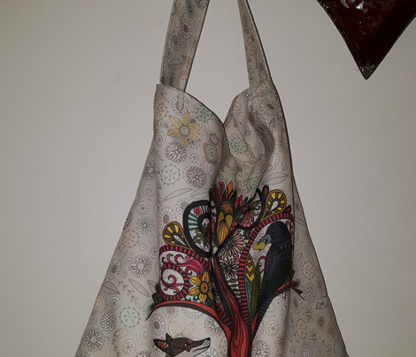 fox and crow yard tote bag kit
