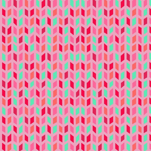 Geometric Pink and Green Pattern