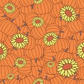 Pumpkins & Flowers