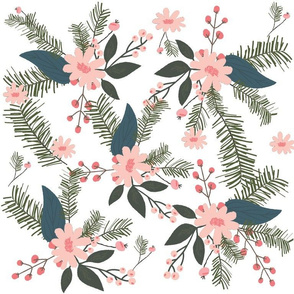 Winter Floral Blush
