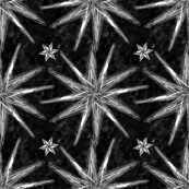 Project 58 | Starburst | Silver on Black