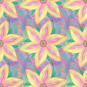 Project 41 | Zentangle Floral | Golden Poinsettia