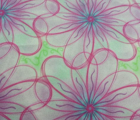 Project 55 | Zentangle Floral | Pink Anemone