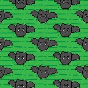 Halloween Cute Bats Green