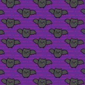 Halloween Bats on Purple Stripes