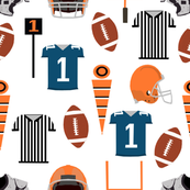 orange and blue gators college football sports fabric broncos fabric kids fabric